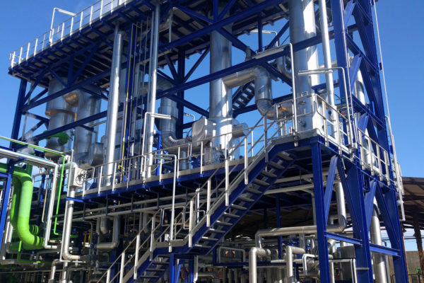 Completion of a new caustic soda plant.