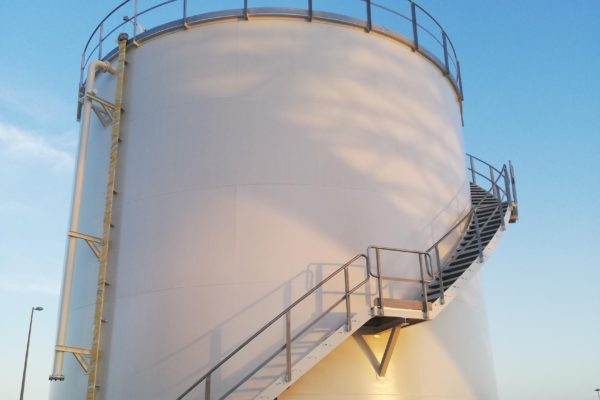 Completion of the design, manufacture and assembly of the firefighting water tank in the Durrah Sugar refinery (Saudi Arabia)